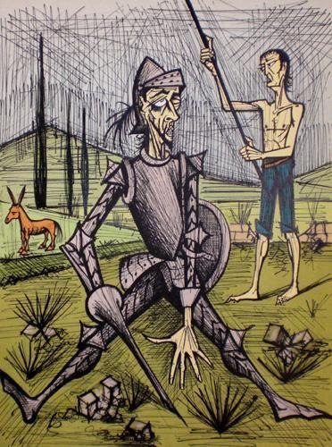 La Rencontre Avec Les Musiciens Peintre Peinture Dessin Don Quichotte