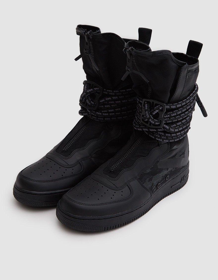 Nike   SF Air Force 1 Hi Boot in Black Black Dark Grey  84590ff90