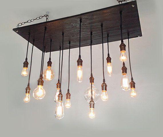 16 Bare Bulb Pendant, Industrial