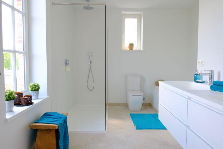 Badkamer Zonder Tegels : Badkamer zonder tegels gewoon geverfd? badkamer in 2018 villa