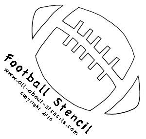 free football stencils you can print football stencil from all about vinyl. Black Bedroom Furniture Sets. Home Design Ideas