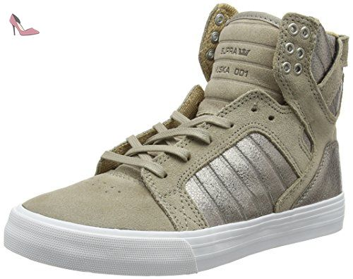 Supra Vaider, Sneakers Basses Homme, Gris (Charcoal-White), 41 EU