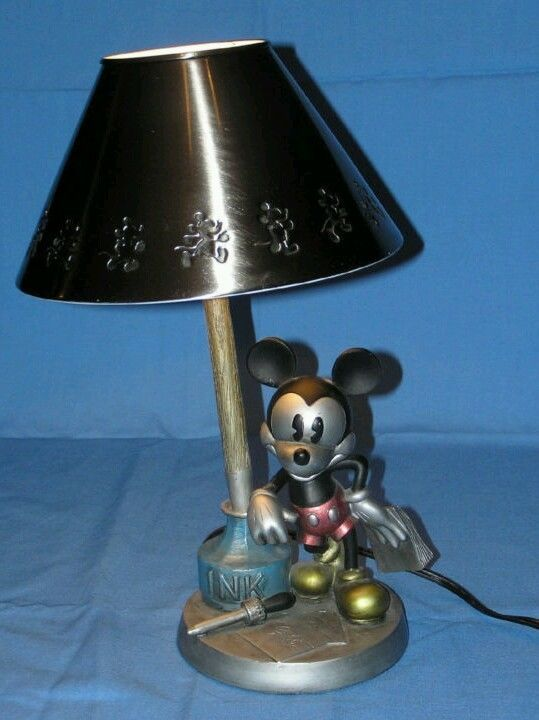 Mickey Mouse inkwell Hampton Bay desk table lamp, faux ...
