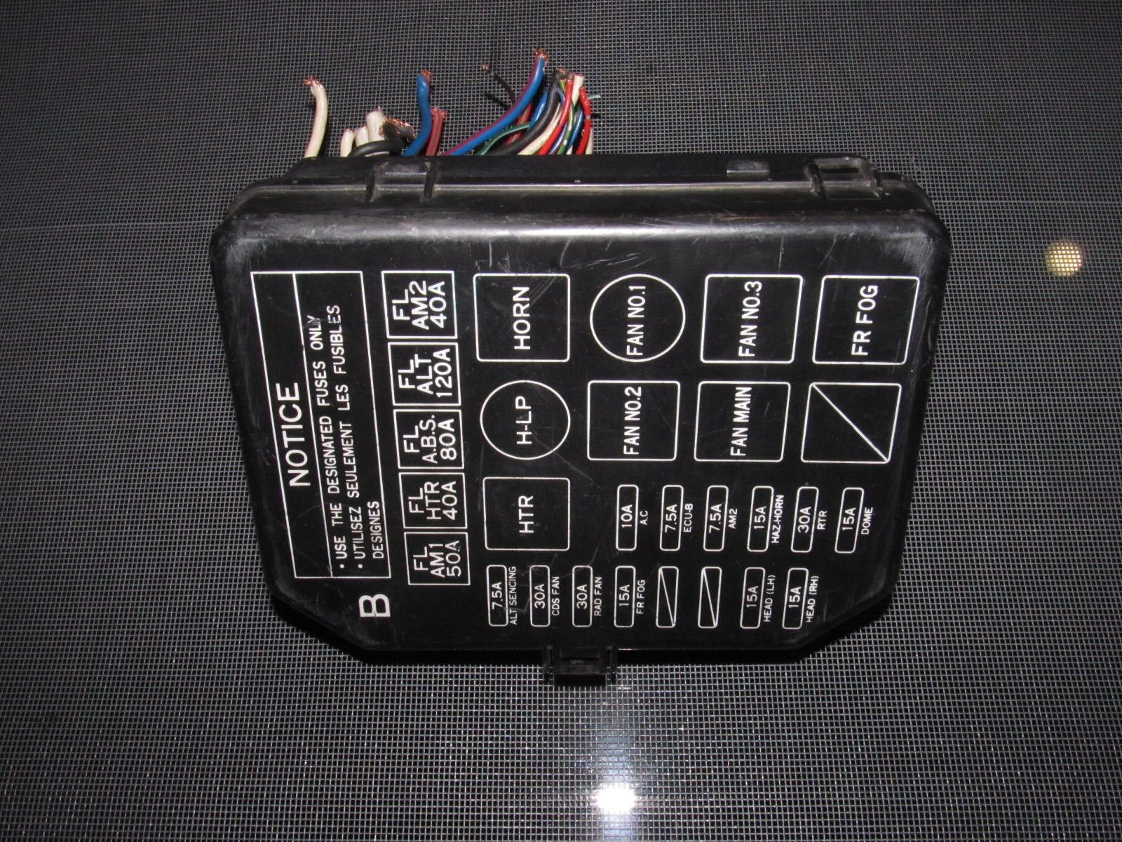 91 95 toyota mr2 oem interior fuse box [ 1600 x 1200 Pixel ]