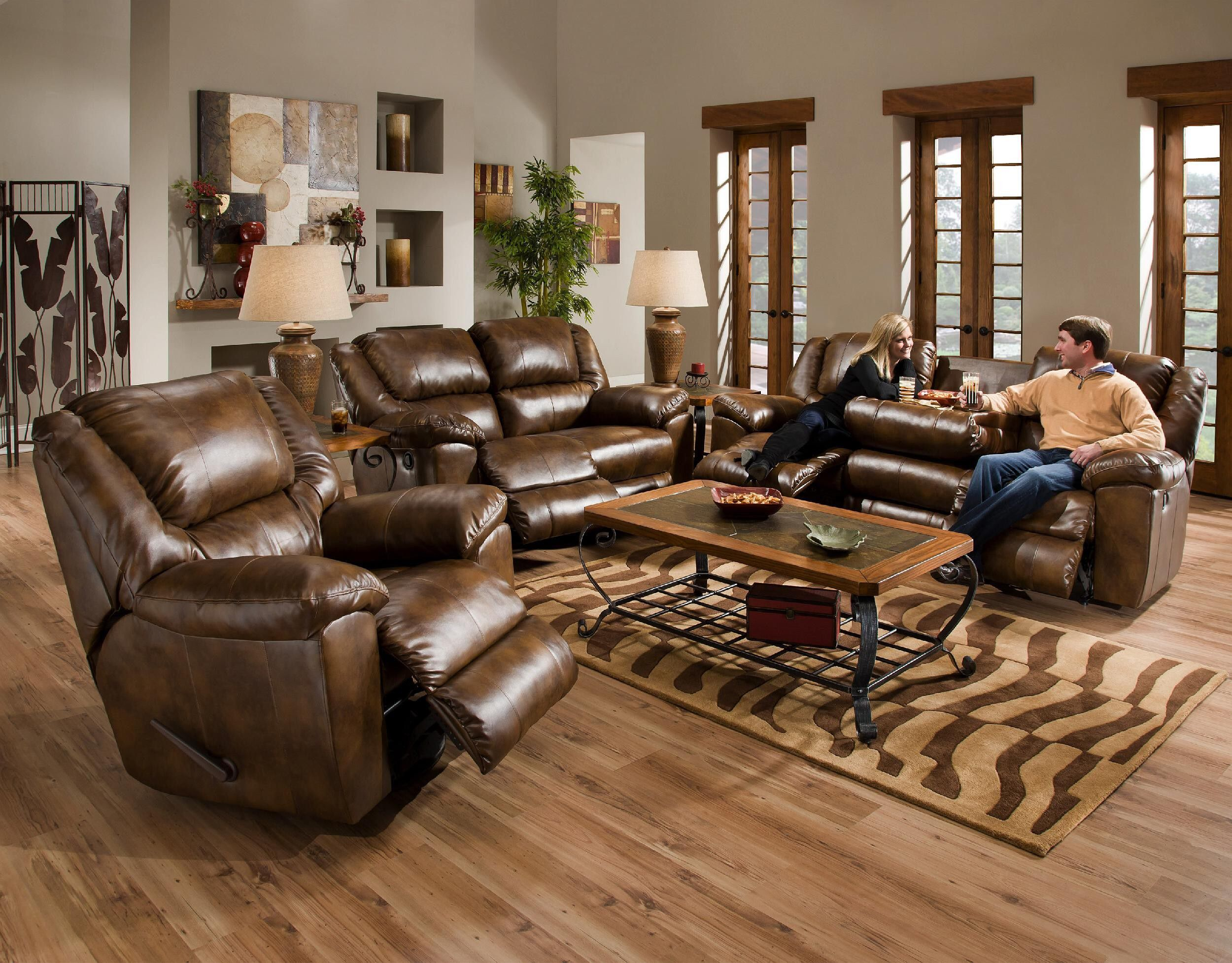 Idea Of How To Decorate A Living Room With Leather Couch  Living Best Living Room Designs With Leather Furniture Review