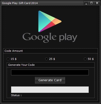 Google Play Gift Card Code Generator (2014) | Codigo