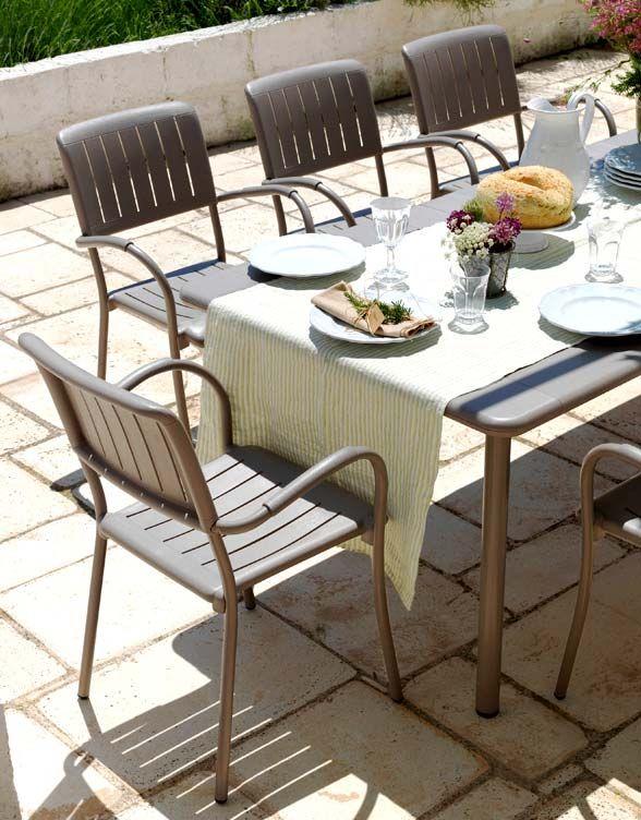 Tavoli E Sedie Da Giardino Nardi.Maestrale Alluminium Table With Musa Chairs By Nardi Made In Italy