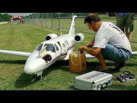 Huge Rc C 525 Citation Jet Scale Model Turbine Jet Flight