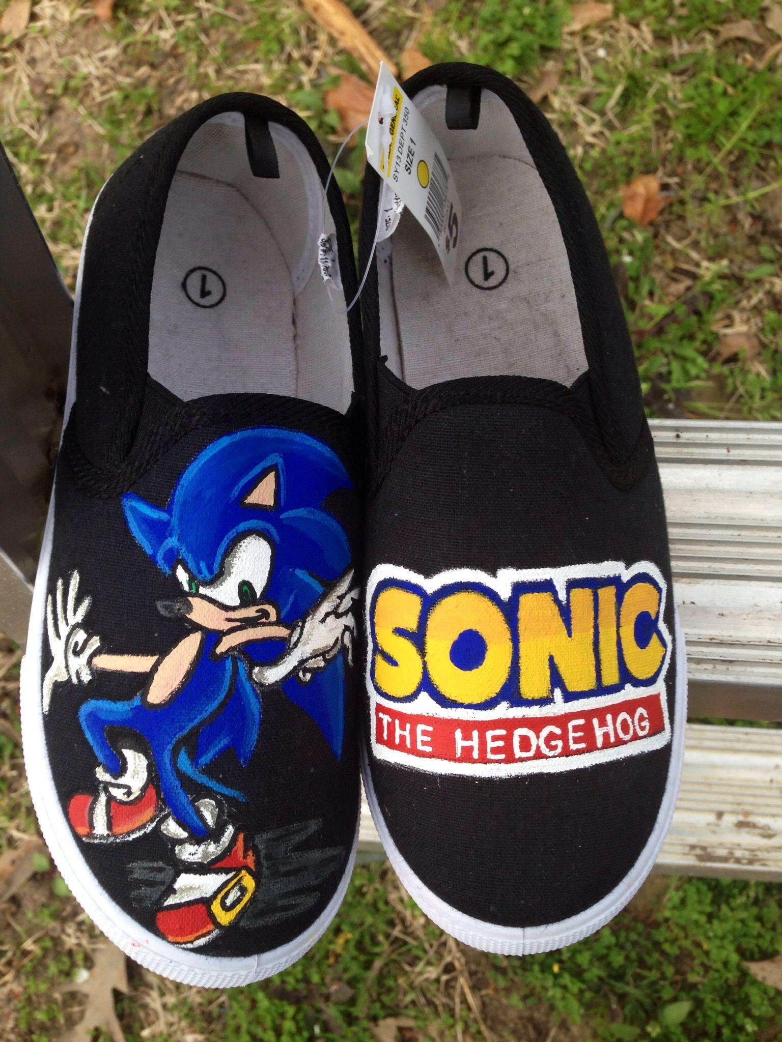 a94f080f29db Sonic the Hedgehog shoes www.offbeatcanvas.com