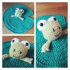 Frog Security Blanket (free pattern)