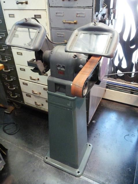 Vintage Bench Grinder Fitted With Our Multitool Grinder
