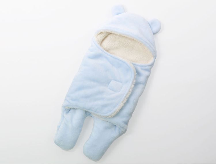 2a51d6b505 Baby Blanket Envelope Swaddle Winter Wrap Coral Fleece Newborn Blanket  Sleeper Infant Stroller Wrap Toddlers Baby Sleeping Bag6