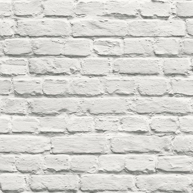 Http Www Castorama Fr Store Papier Peint Papier Brick Blanc Prod16390005 Html Fond D Ecran En Briques Murs En Pierre Fausse Brique Blanche