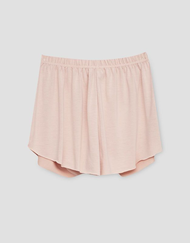 Fabric shorts - Shorts - Clothing - Woman - PULL&BEAR Israel