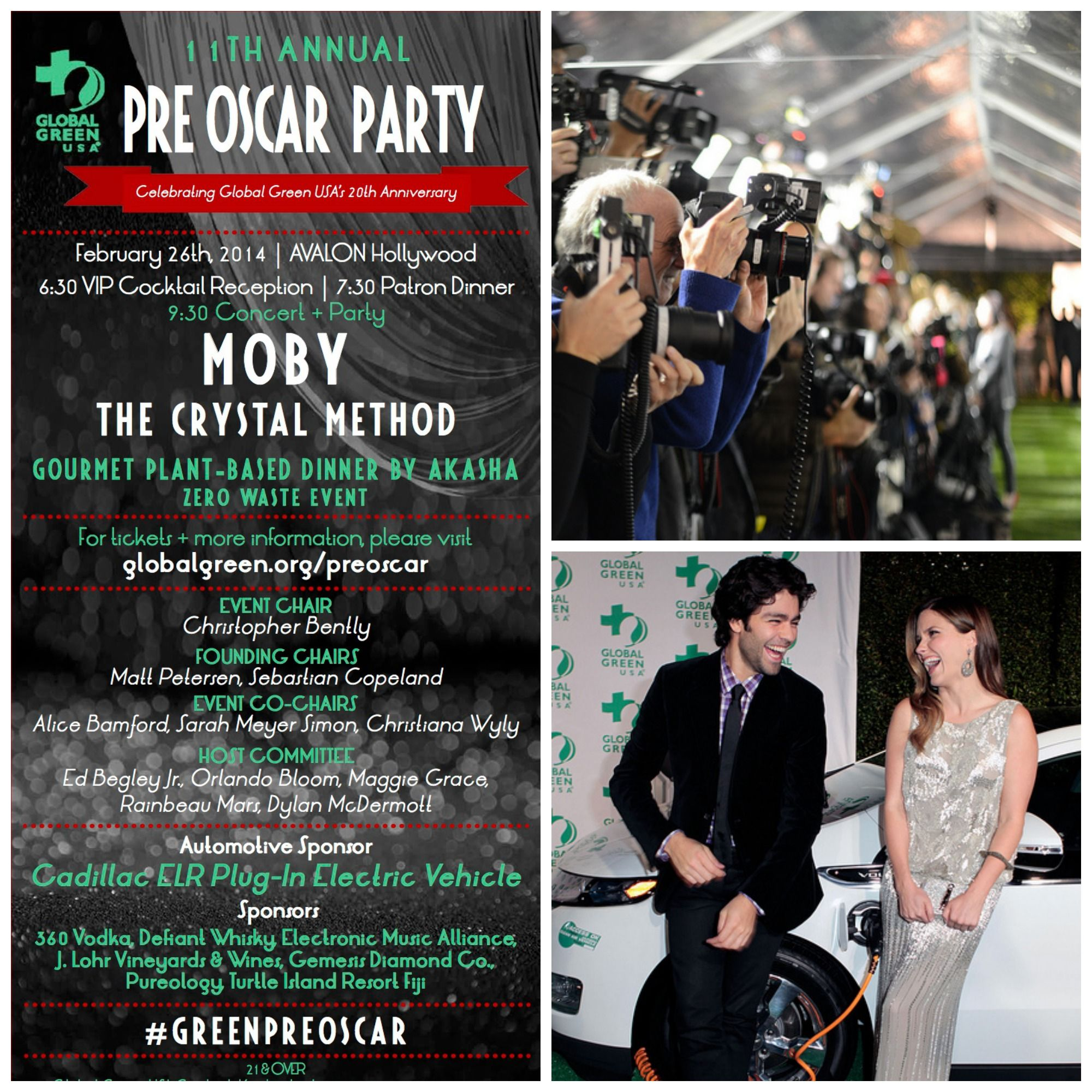 Global Green's 11th annual Pre-Oscar Party is not only about amazing food and fantastic music, it is also about bringing together powerful voices and passionate supporters of smart climate solutions.