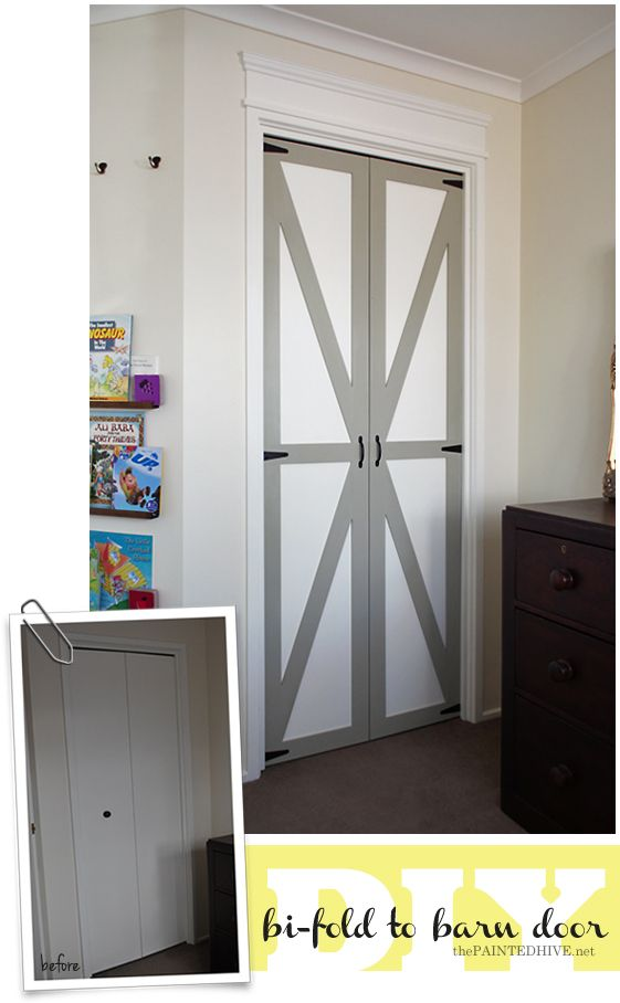 Diy Bi Fold To Barn Door The Painted Hive Feather My