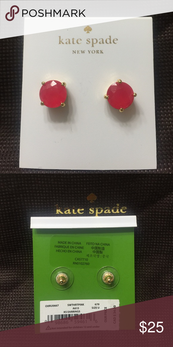 Brand New Kate Spade gold plated Earrings Brand New Kate Spade gold plated Earrings with dust bag kate spade Jewelry Earrings