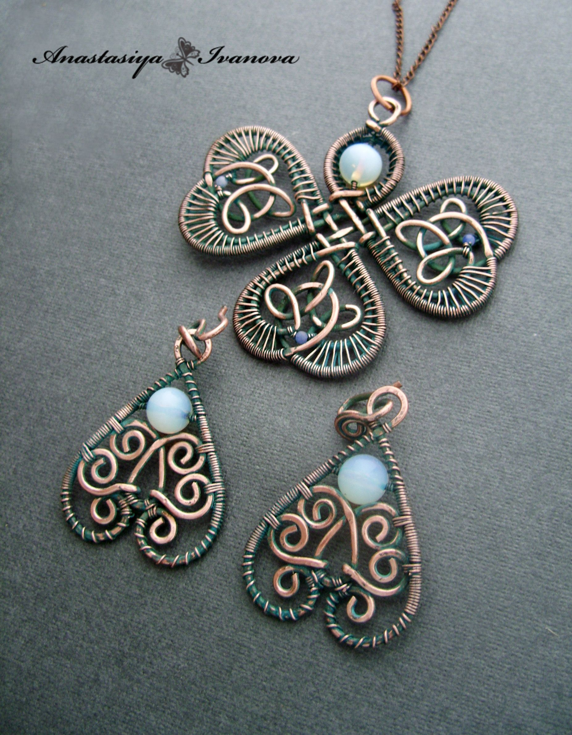 Knot centered clover. Wire wrapping. | Wirework | Pinterest ...