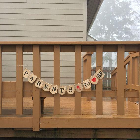 Baby Shower Banner Sign Custom Burlap Baby By LivingLifeCrafty