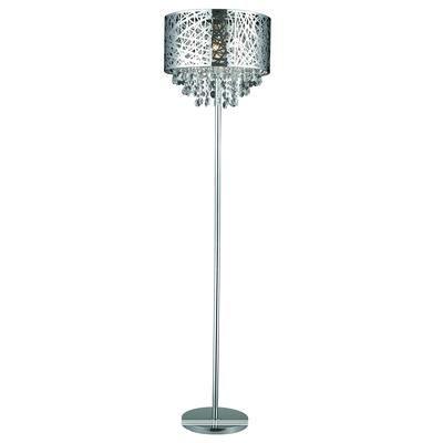 GEN-LITE - Helix 1 Light Chrome Floor Lamp With Crystals - 103977 ...