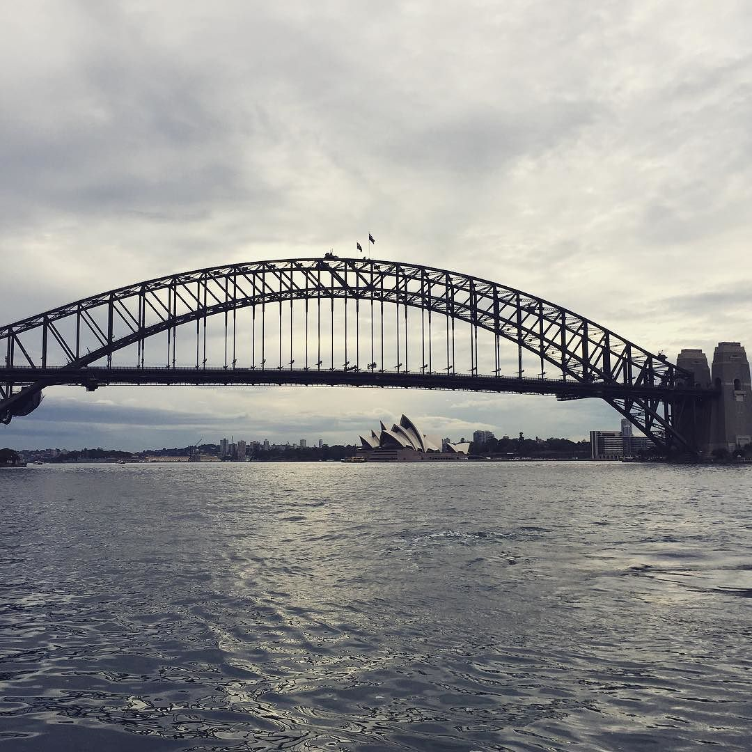 This view on ferry to work because its #ashowedding #sydney #sydneyharbour #sydneyharbourbridge #byron by stumatt http://ift.tt/1NRMbNv