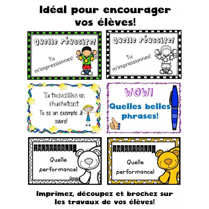 Petits certificats Intensive French Pinterest