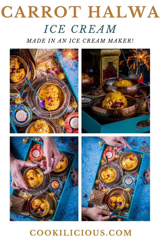 Carrot Halwa Ice Cream - Indian Fusion Dessert Car