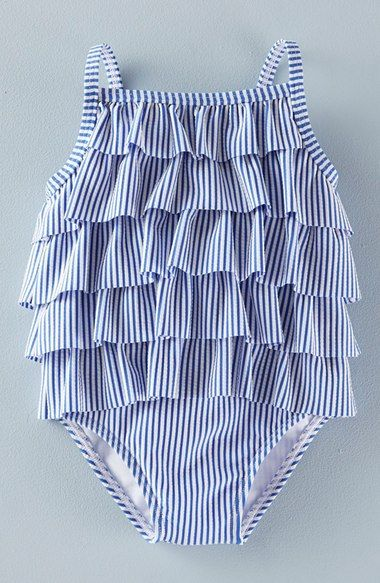 280a225f31 Mini Boden 'Retro Ruffle' One-Piece Swimsuit (Baby Girls & Toddler Girls)  available at #Nordstrom
