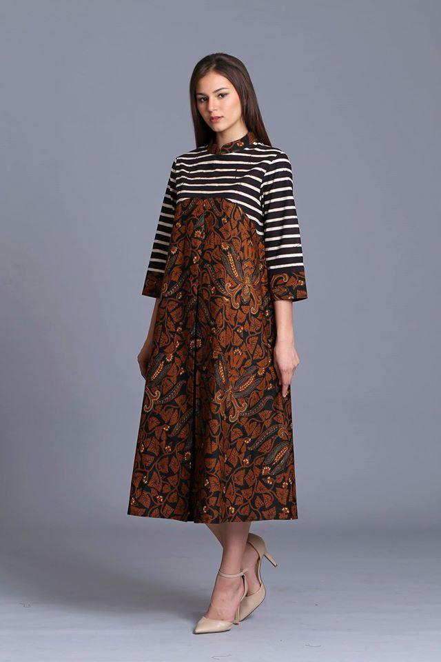 Gaun Dres Batik Model In 2019 Blouse Batik Batik Dress Model