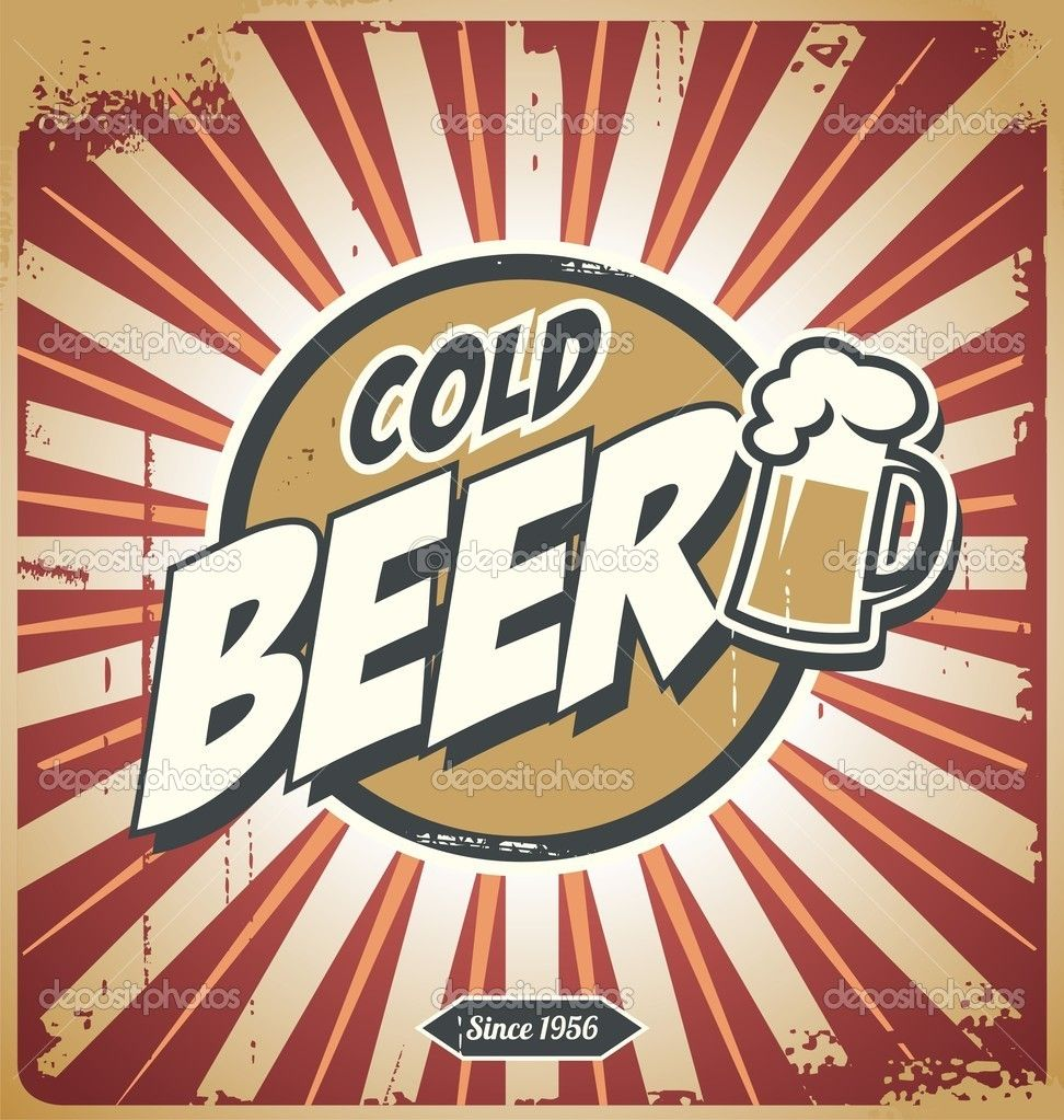 Vintage american beer posters