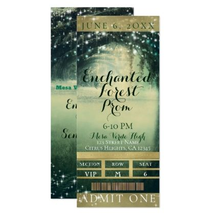 Enchanted Forest Green Blue Prom VIP Party Ticket Card Party tickets - fresh formal vip invitation letter