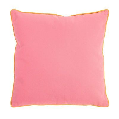 Kissen Uni mit Biese rosa ca B:45 x L:45 cm