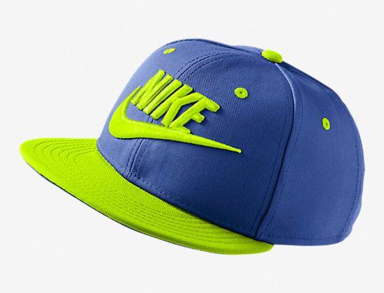 Futura True Kids Game Royal Volt Snapback Cap By Nike Snapback Cap Snapback Nike