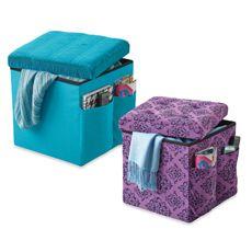 Excellent Sit And Store Folding Storage Ottoman Bed Bath Beyond Machost Co Dining Chair Design Ideas Machostcouk