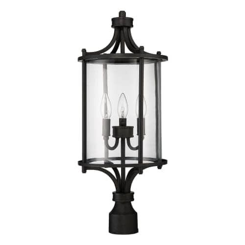 craftmade z2825 carlton 24 tall 3 light outdoor post light aged rh pinterest com