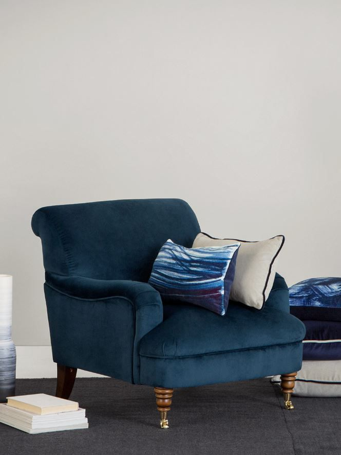 accent chair in midnight blue velvet in 2019 jones guy residence rh pinterest com