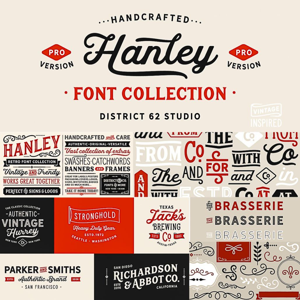 Hanley Pro Font Family Font family, Free fonts download