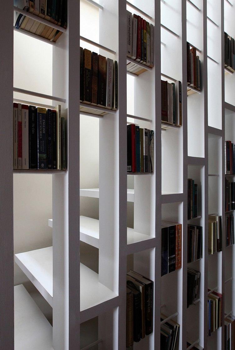 moderne treppe bucherregal, moderne-treppe-bucherregal-weiss-lackiert-gross (750×1116, Design ideen