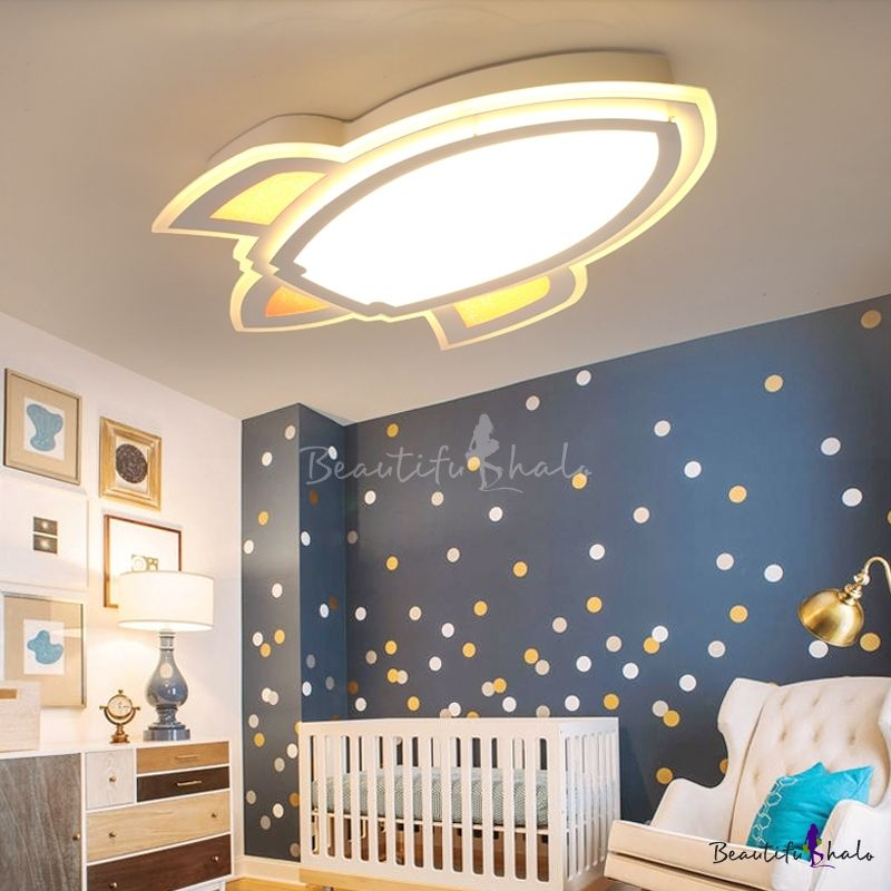 Simple Style Led Light Cartoon Rocket Shape Ceiling Light For Kids Room Beautifulha In 2020 Bedroom Ceiling Light Bedroom False Ceiling Design Ceiling Design Bedroom