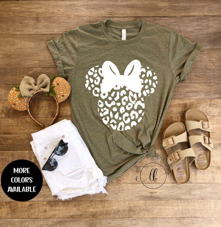 Minnie Cheetah Tee, Mouse Leopard Shirt Animal Kingdom Shirt, Women Disney Shirt,, Adult Disney Shir
