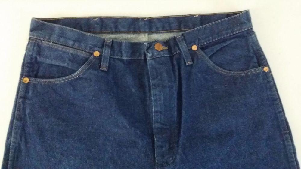 Wrangler mens jeans 36 x34 blue straight leg inseam 32