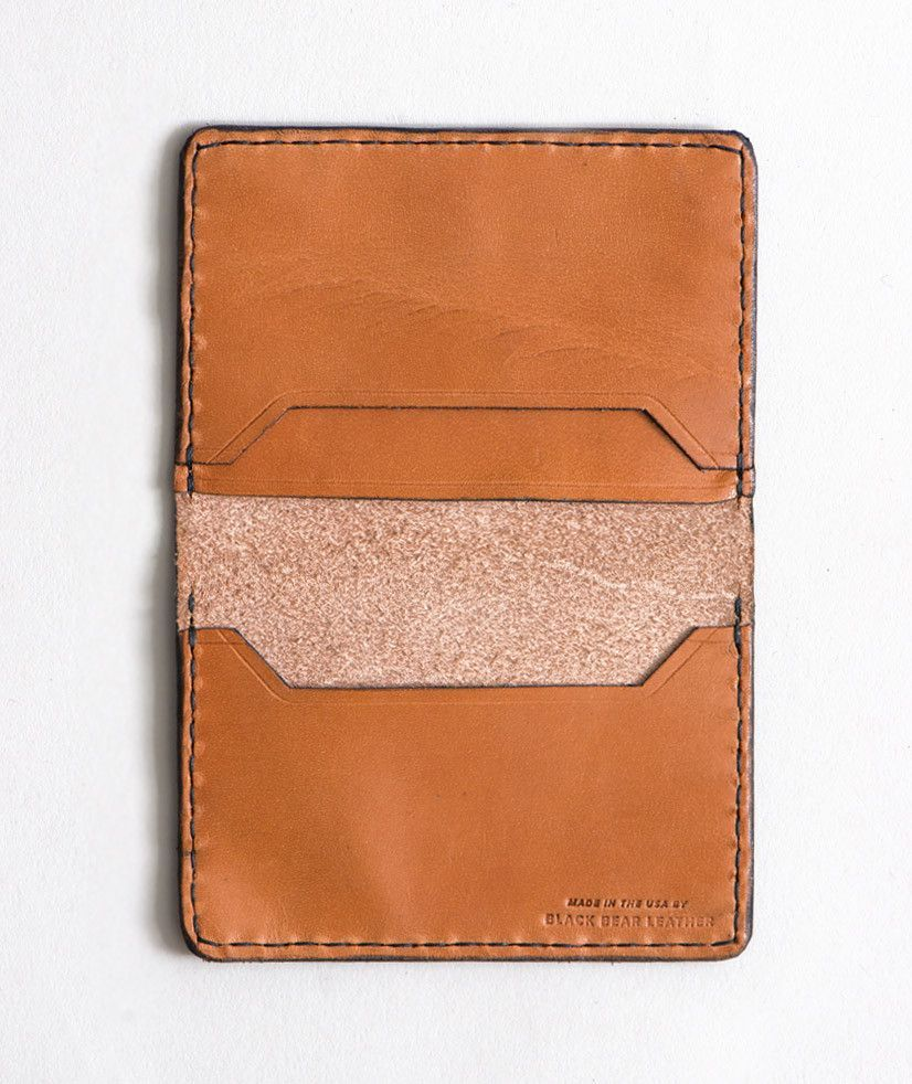 026030f532cea8 Black Bear Leather Bifold Wallet Tan | Products | Leather bifold ...