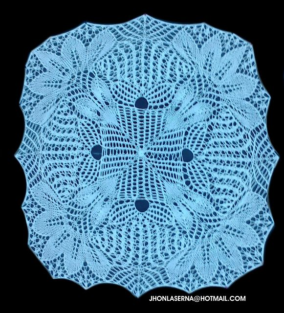 estefany doily pattern by Jhon Laserna | Carpeta y Tejido