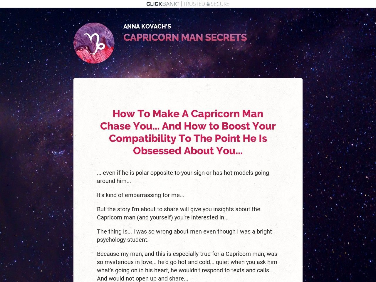Man Get Chase To To You Capricorn How