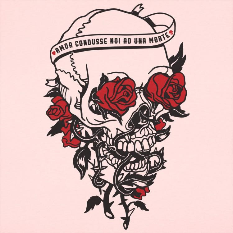 Skull And Roses T Shirt Ladies Slim Fit Calaveras Y Rosas