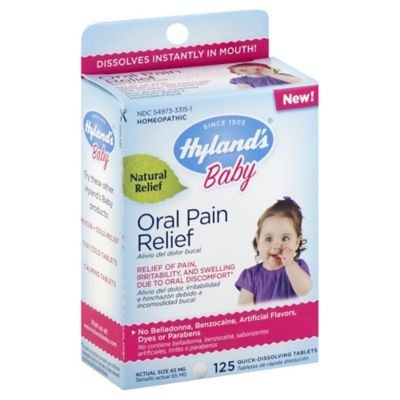 hyland s 125 count baby oral pain relief quick dissolving tablets rh pinterest com