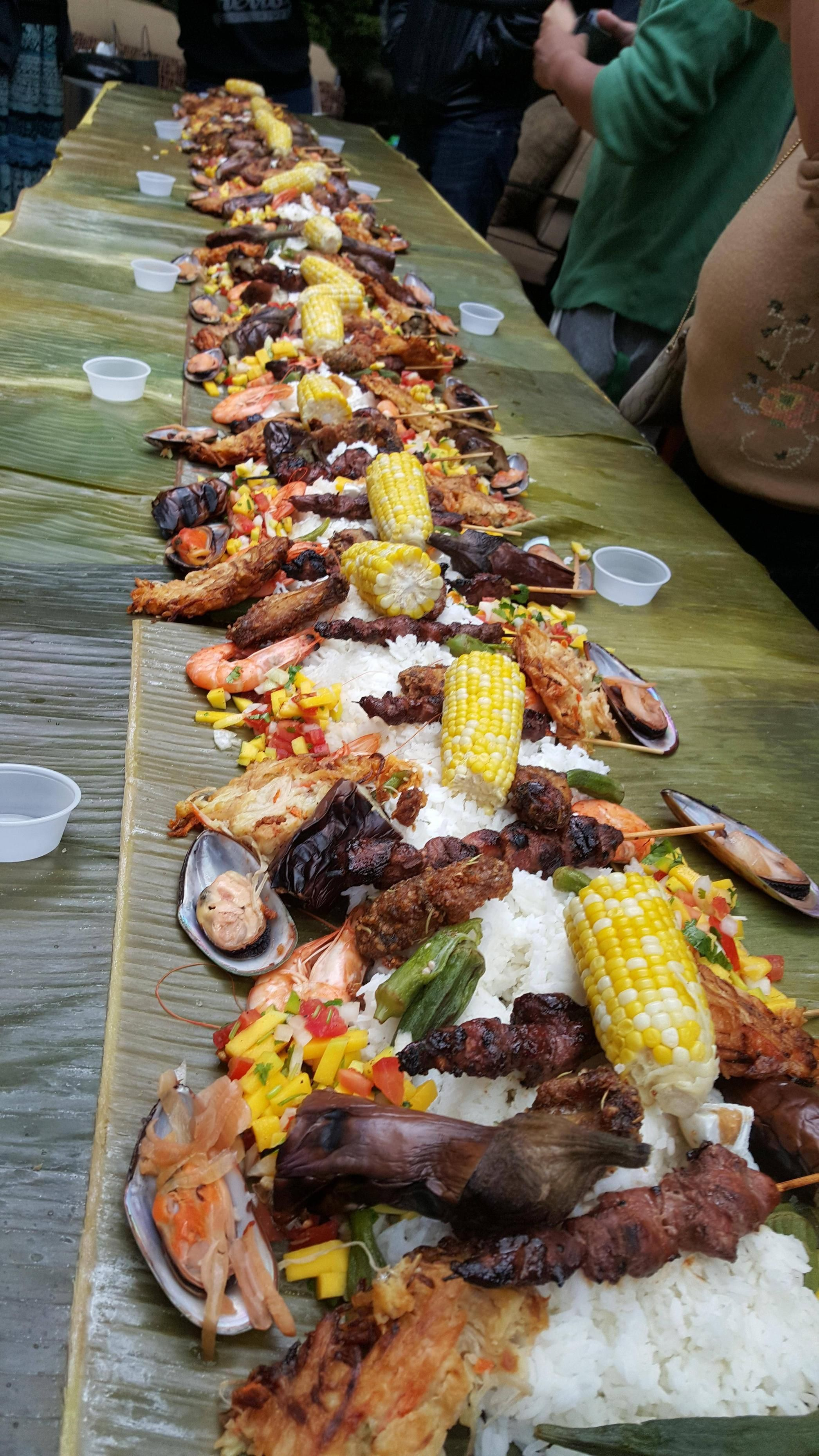 all you can eat all types of food kamayanstyle contest publix rh pinterest com