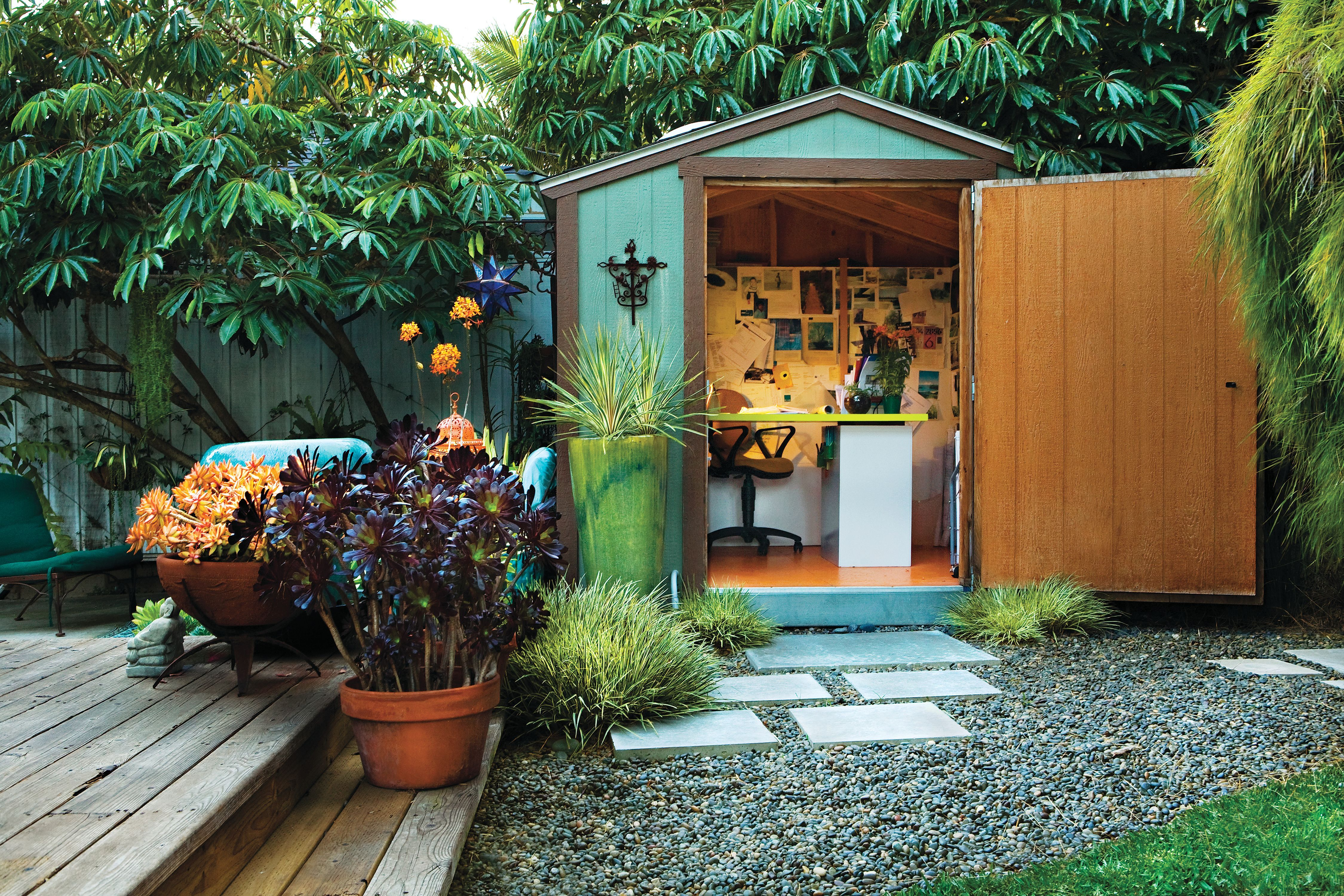 Gardens Shed office Outside Pinterest