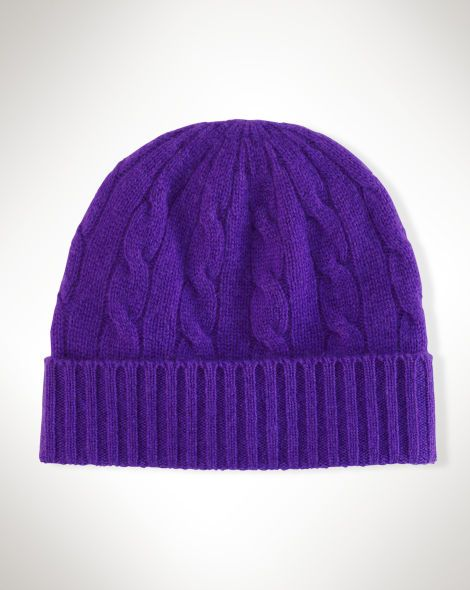 Cable-Knit Cashmere Hat - Polo Ralph Lauren Hats - RalphLauren.com ... 92a64efb951
