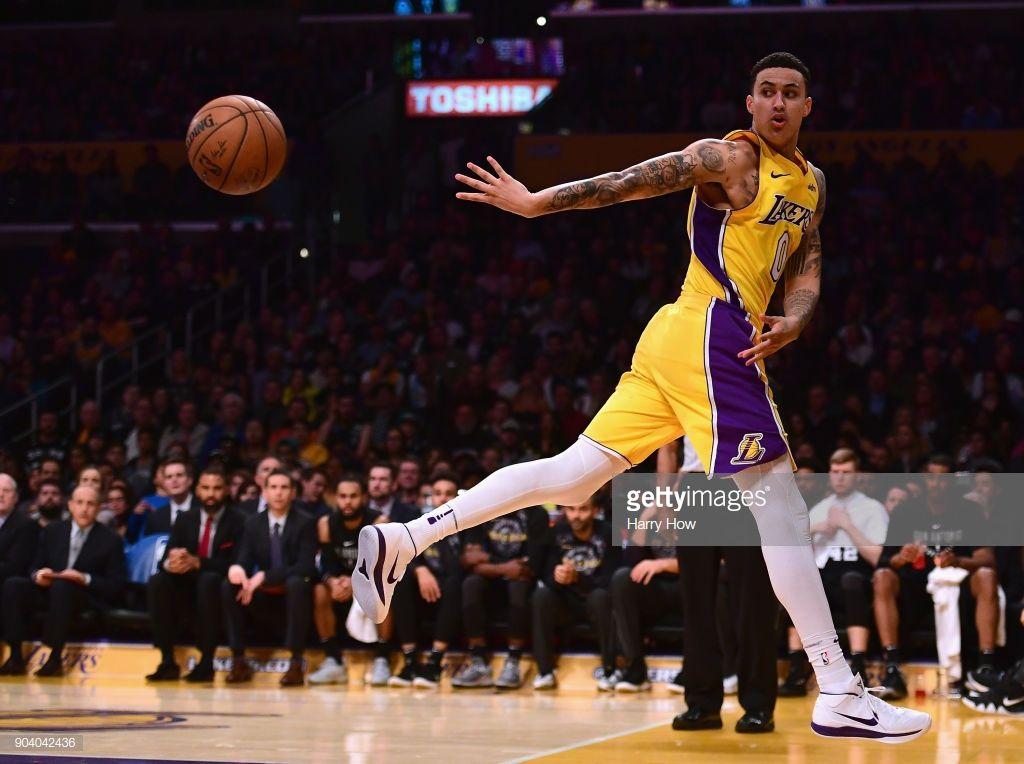 Kyle Kuzma Of The Los Angeles Lakers Saves A Ball From Going Out Of Kyle Kuzma Los Angeles Lakers Kyle